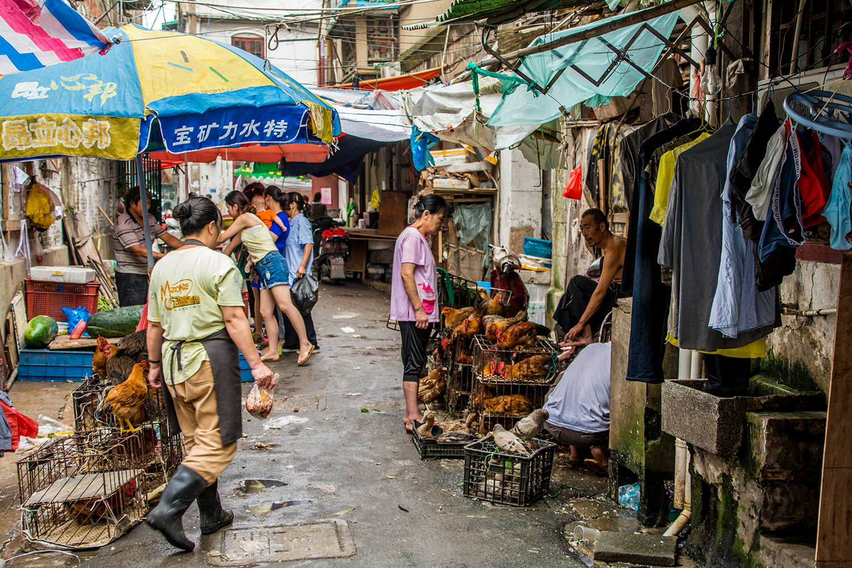 上海の路地裏
