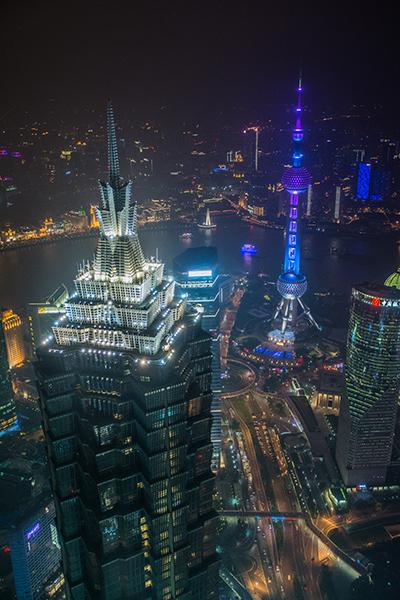 上海ヒルズからの夜景