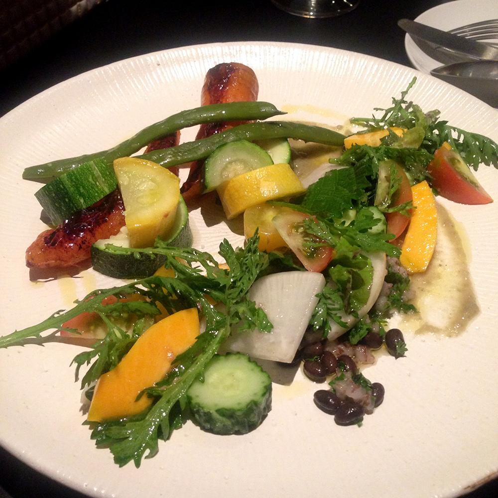 無農薬野菜の野菜プレート