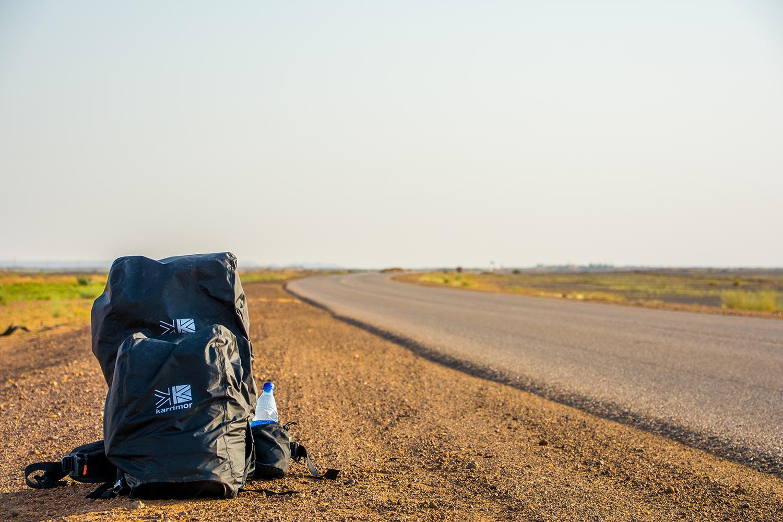スーダンでヒッチハイク