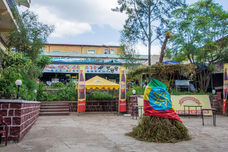 エチオピアのレストラン