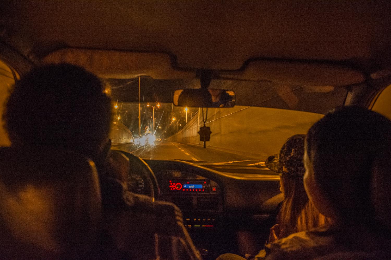 アディスアベバでヒッチハイク