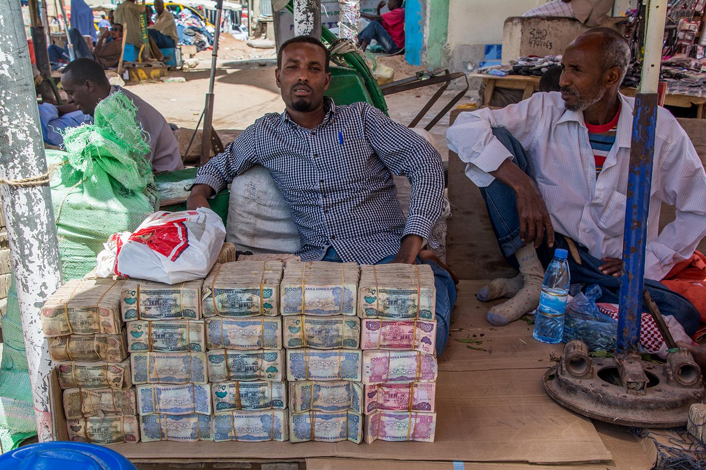 ソマリランドの両替屋