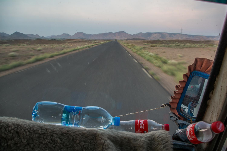 ジブチからディレダワに向かうバス