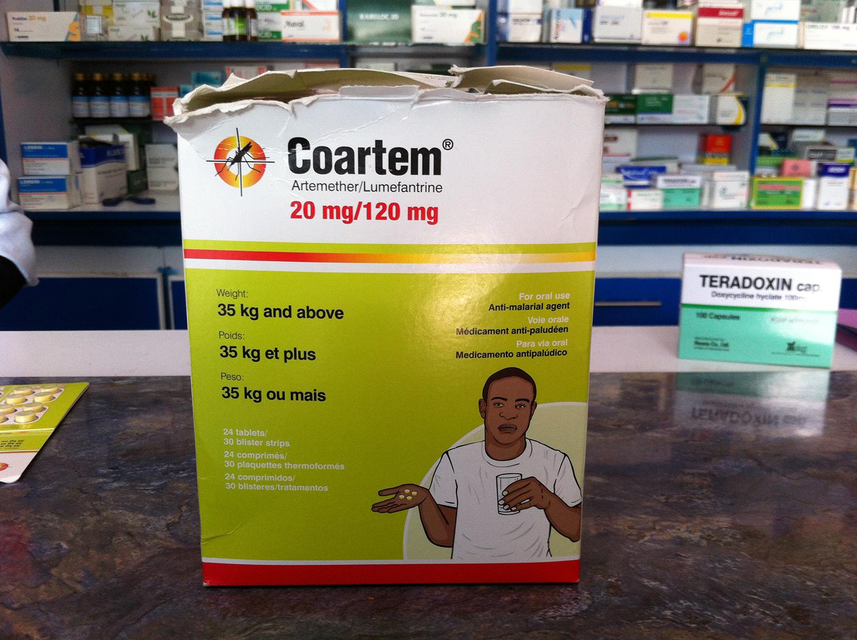 マラリア治療薬コアルテム