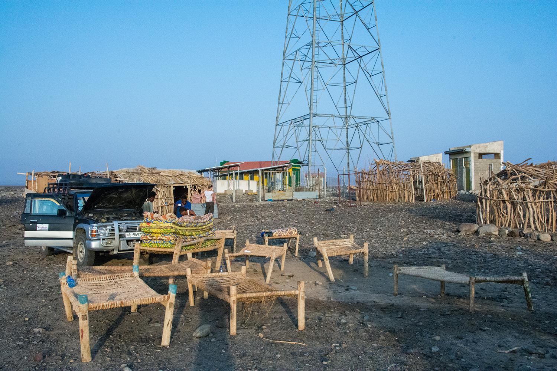 早朝のキャンプサイト