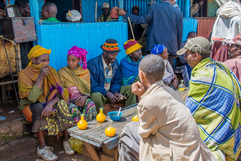 ドルゼ村のマーケット