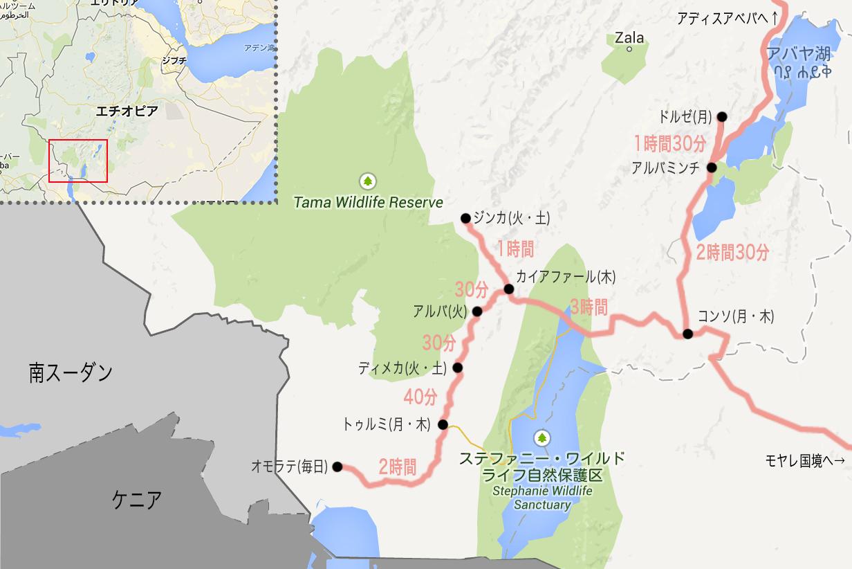 エチオピア南部地図