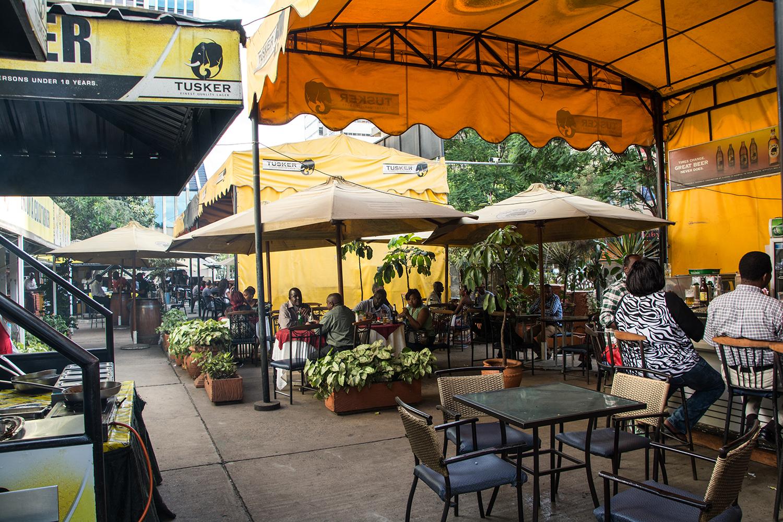 ケニアのBBQレストラン