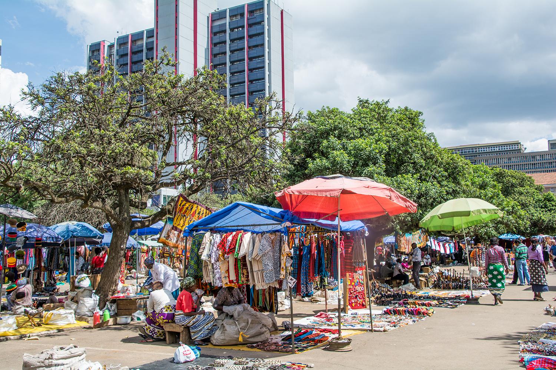 ナイロビのマサイマーケット