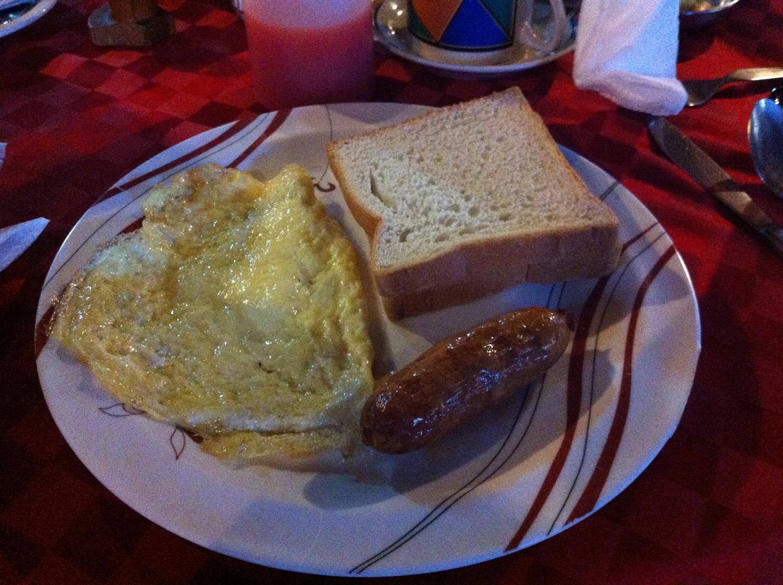 ツアーの朝食