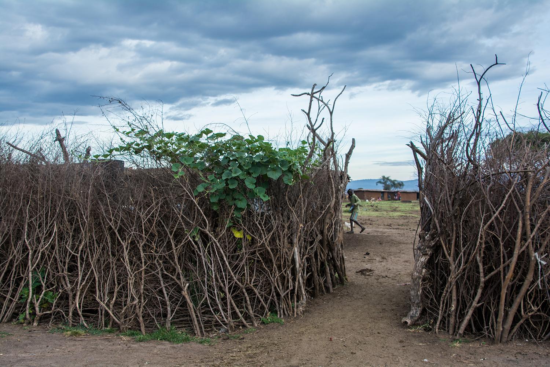 マサイ族の村の入口