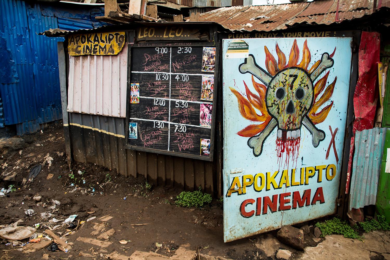 キベラスラムの映画館