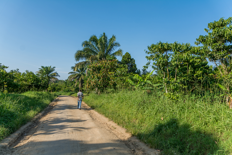 ピグミーの村に向かう途中