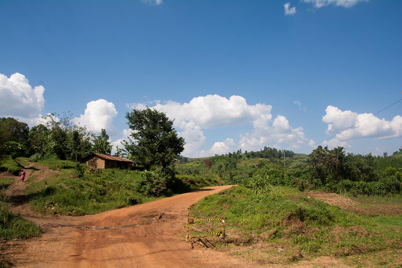 キバレ国立公園に向かう道