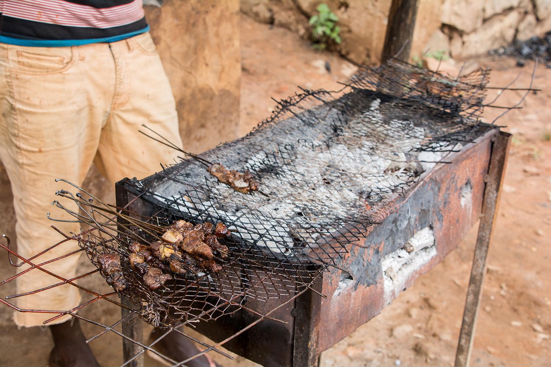 タンザニアの串焼き