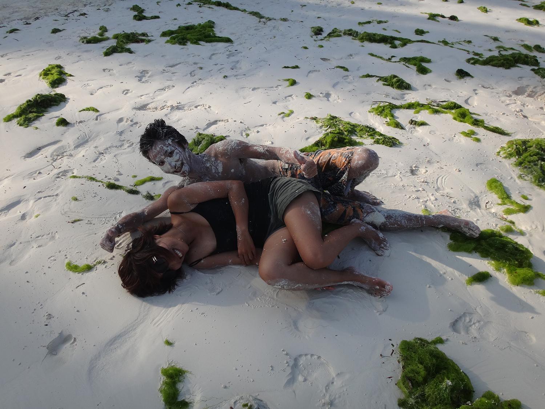 パジェのビーチにて