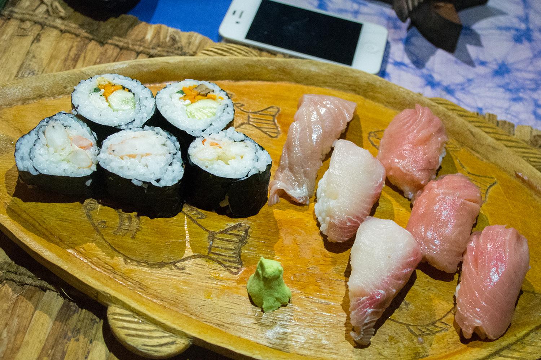 パラダイスビーチバンガローの寿司