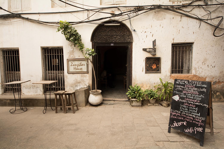 ストーンタウンのカフェ