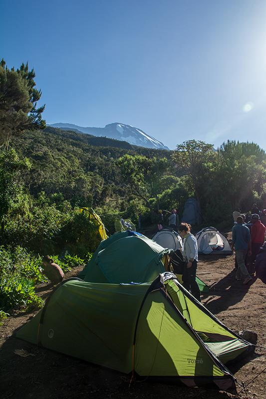 1日目キャンプ地