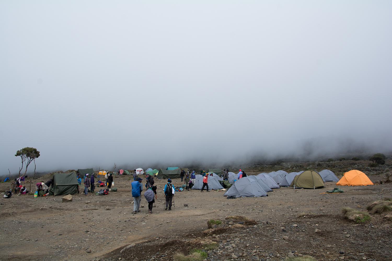2日目キャンプ地