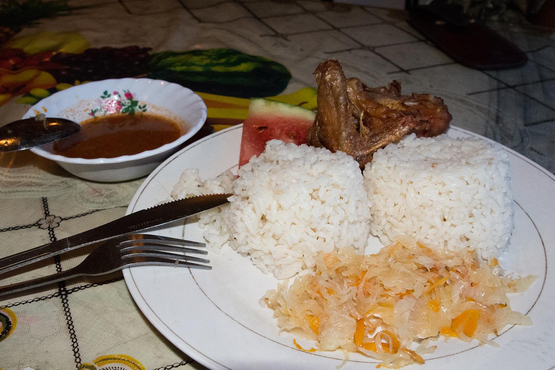 タンザン鉄道の夜ご飯