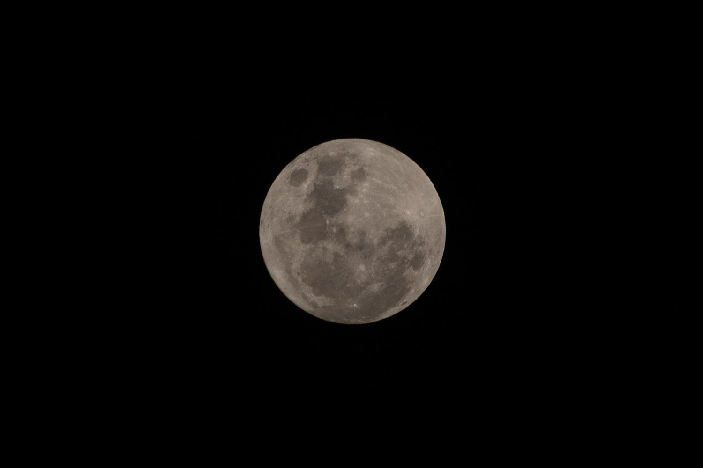 タンザン鉄道から見た満月