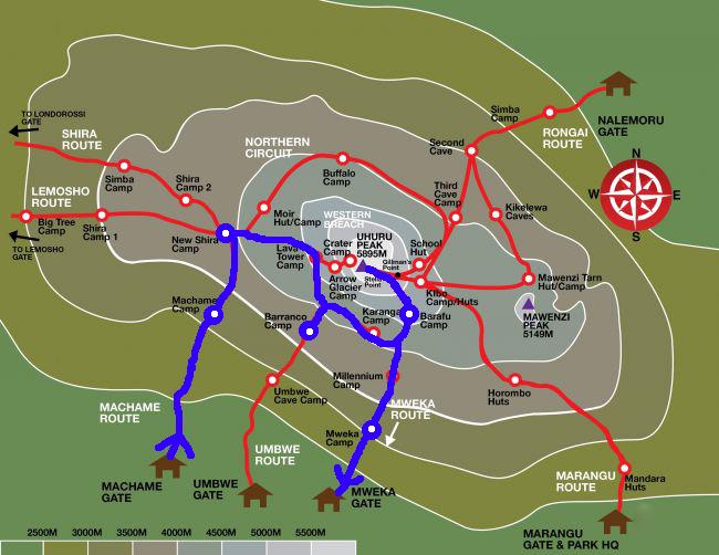 キリマンジャロの地図