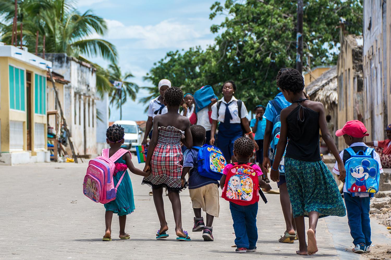 モザンビーク島の子供