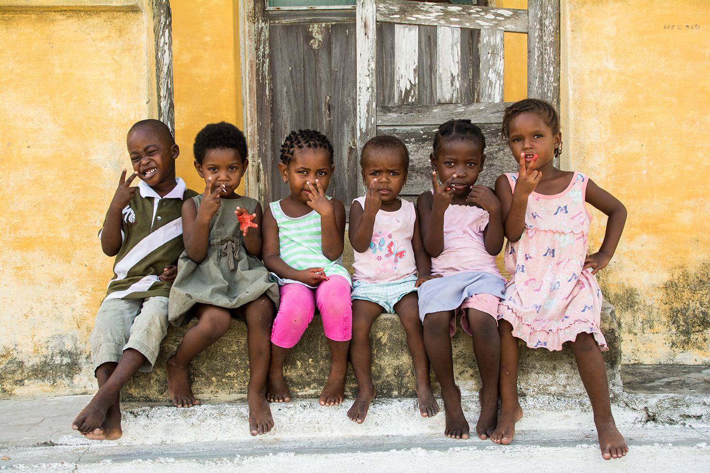 モザンビーク島の子供たち