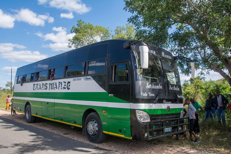 モザンビークのバス