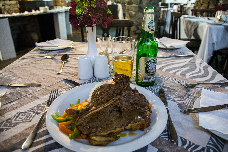 グレートジンバブエ遺跡のレストラン