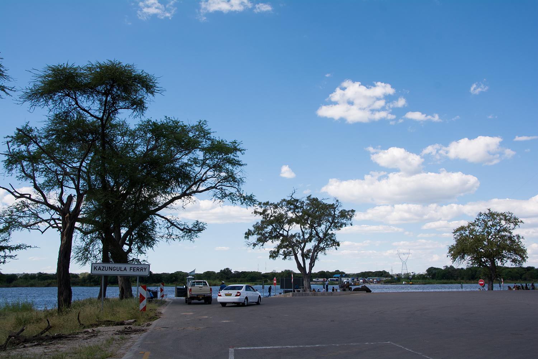ボツワナのザンビアの国境