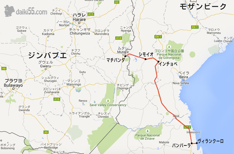 モザンビーク地図
