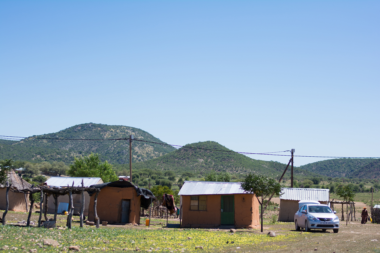 ヘレロ族の村