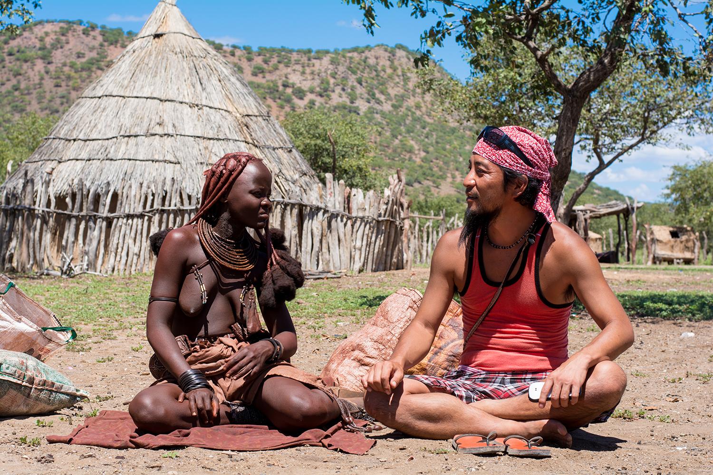 ヒンバ族の村