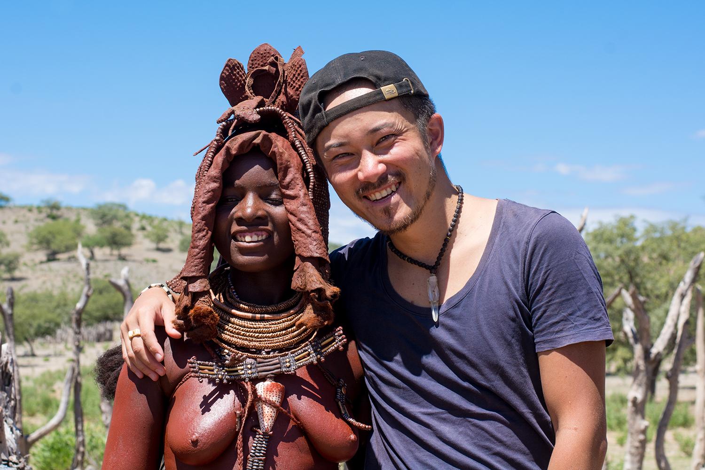 ヒンバ族の集落