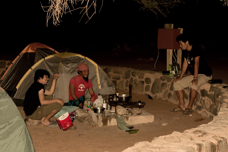 ナミビアキャンプ