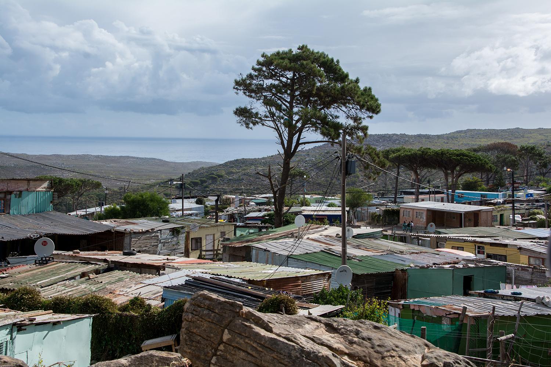 南アフリカの黒人居住区