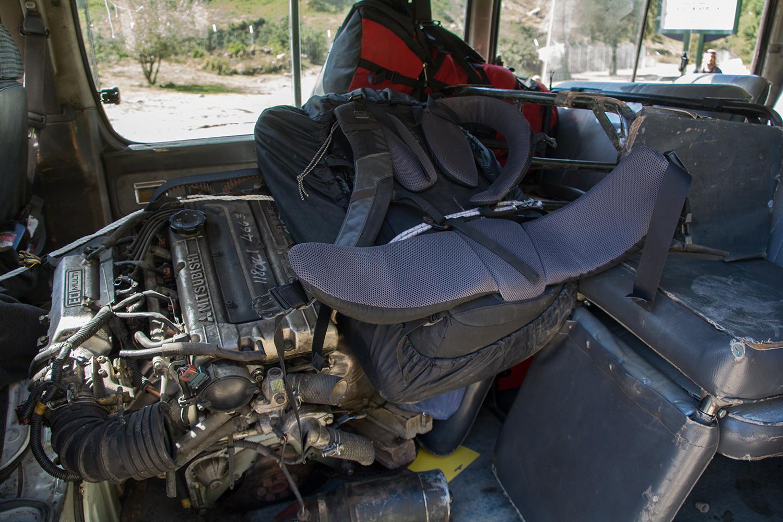 サニパスでヒッチハイクした車の中