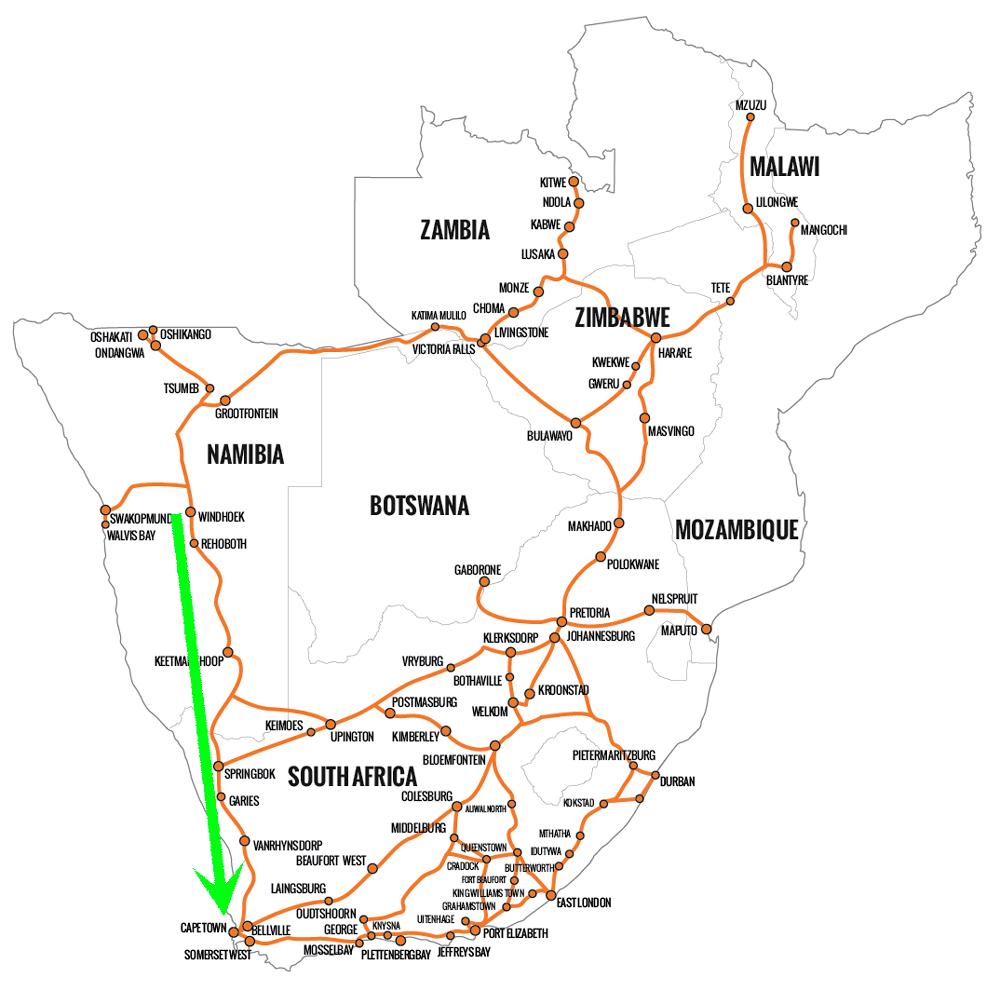 インターケープ路線図