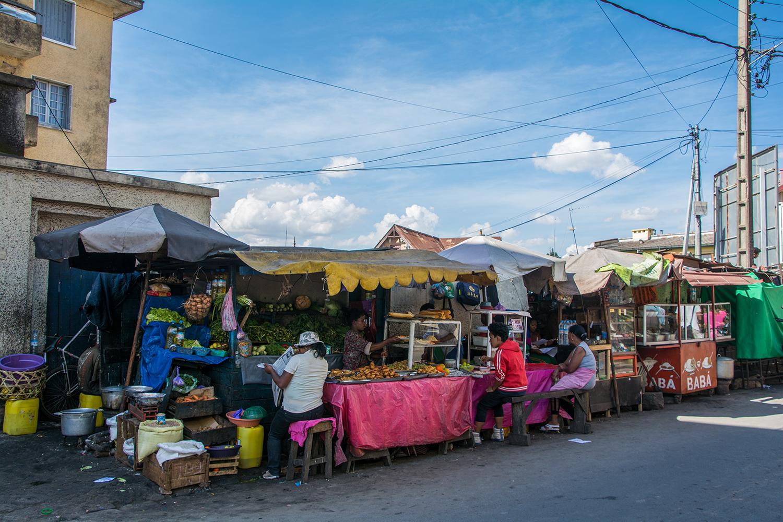 アンタナナリボの屋台