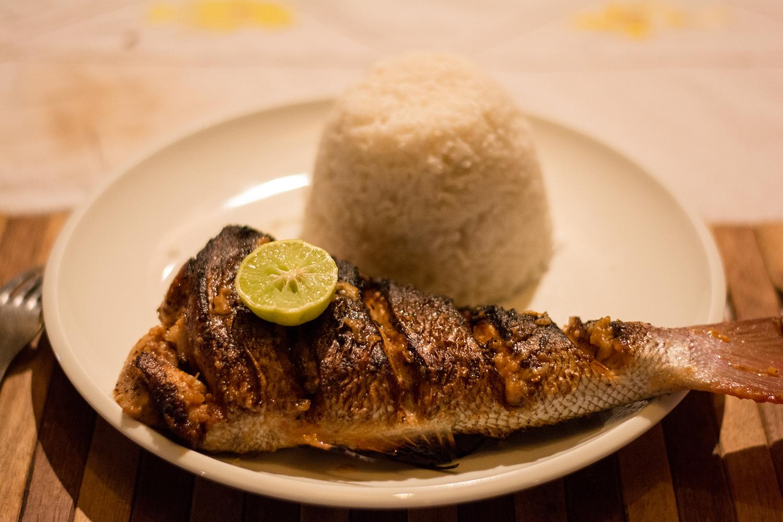 マダガスカルの焼魚