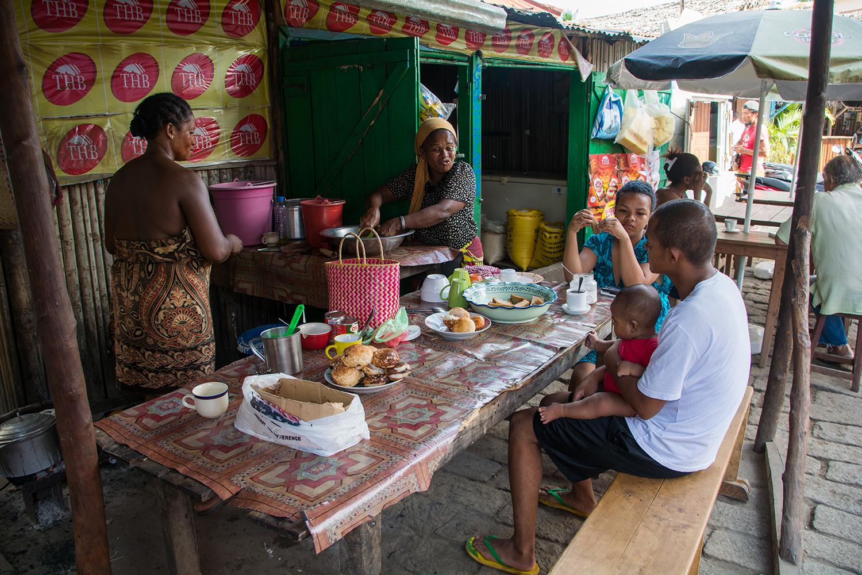 マダガスカルの朝食